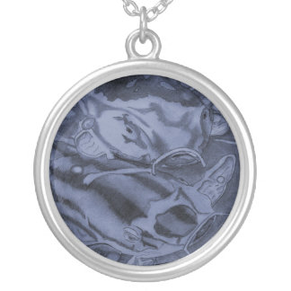 Koi (Blue) Silver Plated Necklace