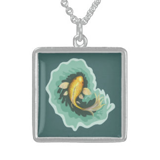 Koi Carp Art Sterling Silver Necklace