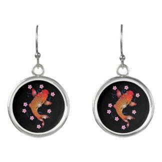 Koi carp earrings