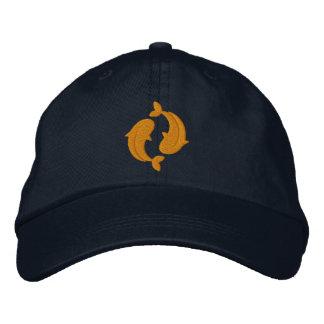 Koi Carp Embroidered Baseball Cap