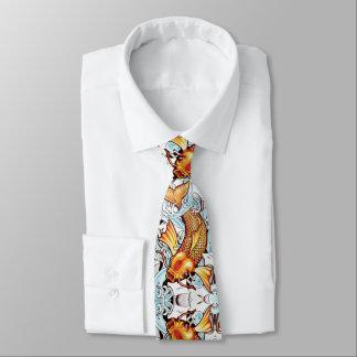 Koi Carp Japanese Tattoo Inspired Fish Fishing Tie
