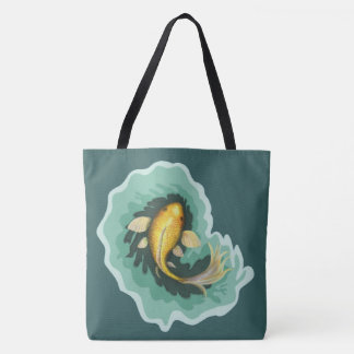 Koi Carp Painting Tote Bag