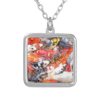 Koi carp silver plated necklace