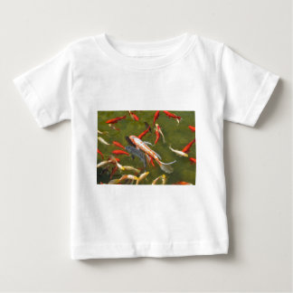 Koi carps in pond baby T-Shirt