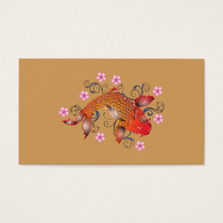 Koi fish business card