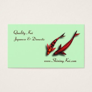 Koi Fish Business Card Template