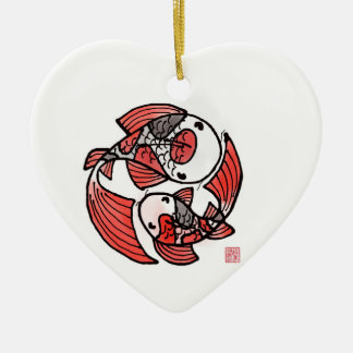 Koi FIsh Ceramic Ornament