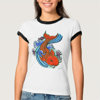 Koi Fish Design T-shirt