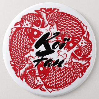 Koï Fish Fan 6 Cm Round Badge