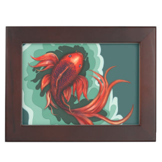 Koi Fish Keepsake Box