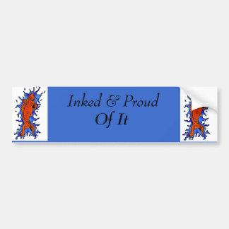 koi fish, koi fish, Inked & Proud , Of It Bumper Sticker