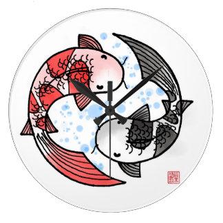 Koi Fish Large Clock