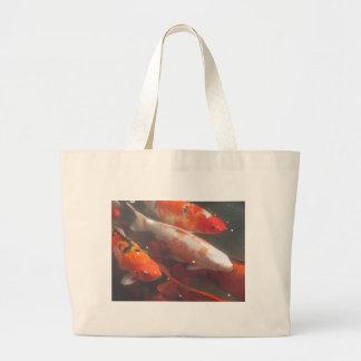 Koi Fish Large Tote Bag