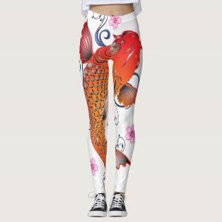 Koi fish leggings