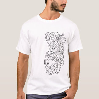 Koi Fish Line Art T Series 2 T-Shirt