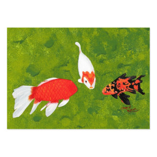 Koi Fish Meeting Artist Trading Card Business Card Templates