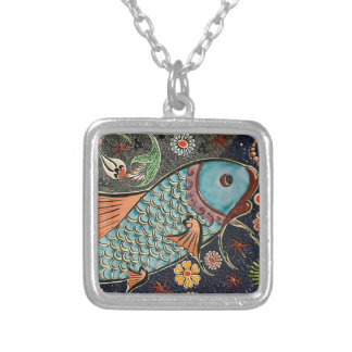 Koi Fish Mosaic Necklace