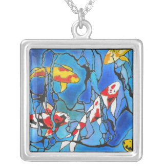 KOI FISH NECKLACE  A mini stained glass window!