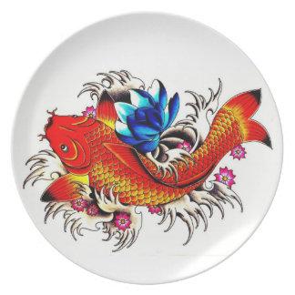 Koi Fish Plate