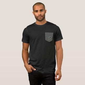 Koi Fish Preppy Penguin Black T-Shirt with Pocket