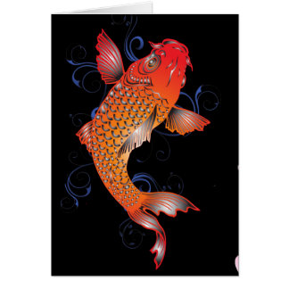 Koi Fish Sealife Card