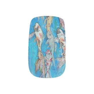 Koi Fish Swimming Nails Minx Nail Art