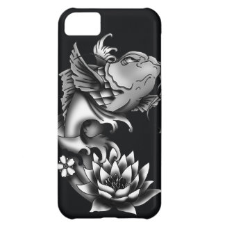 Koi fish tattoo design - Black iPhone 5C Case