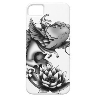 Koi fish tattoo design with lotus and cherry barely there iPhone 5 case