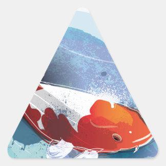Koi fish triangle sticker