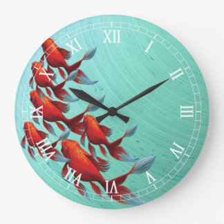 Koi Fish Wall Clock