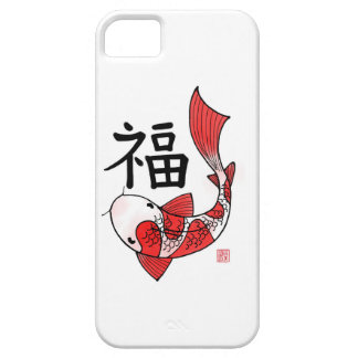 Koi Fish with Fortune Character Iphone 5/5s case