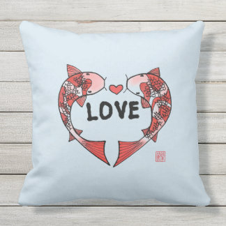 Koi Fish with LOVE Pillow