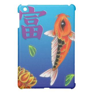 Koi Fish Yellow Lotus iPad Mini Cover