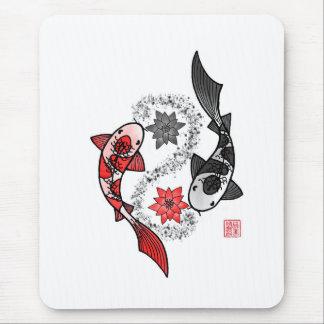 Koi Fish Yin Yang Mouse Pad