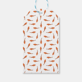 Koi Fishes Motif Pattern Gift Tags