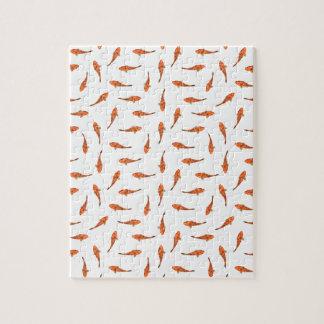 Koi Fishes Motif Pattern Jigsaw Puzzle