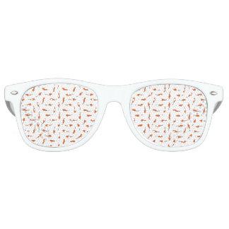 Koi Fishes Motif Pattern Retro Sunglasses