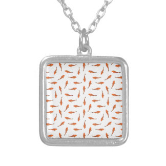 Koi Fishes Motif Pattern Silver Plated Necklace