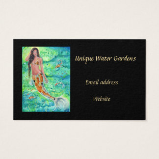 koi mermaid with koi fish business cards by Renee