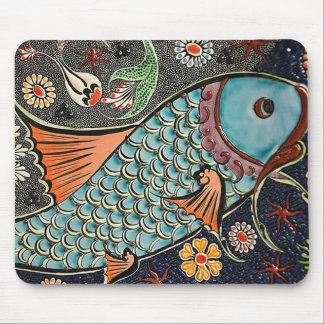 Koi Mosaic Mouse Pad