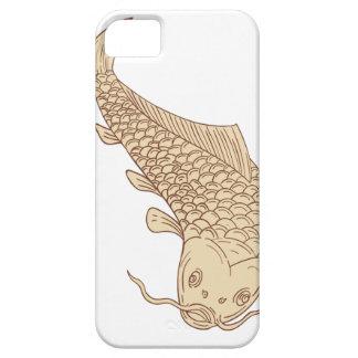 Koi Nishikigoi Carp Diving Down Drawing Case For The iPhone 5