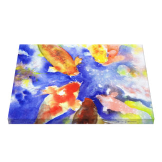 Koi on Canvas Canvas Print