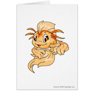 Koi Orange Greeting Card