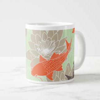 Koi Pattern Large Coffee Mug