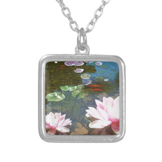 Koi Pond 4-20 Silver Plated Necklace
