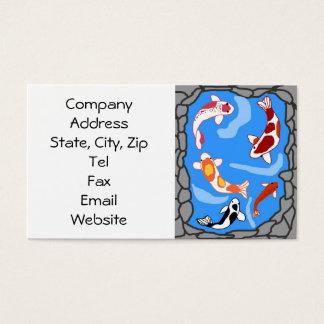 Koi pond business cards