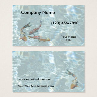 Koi Pond Clear Water Business Card