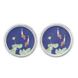 Koi Pond Cuff Links