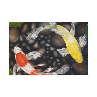 Koi Pond Fish Canvas Print