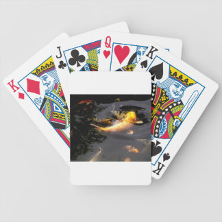 Koi pond in the garden bicycle playing cards